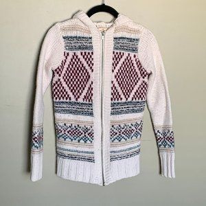 Hollister chunky zip up hoodie fair isle sweater